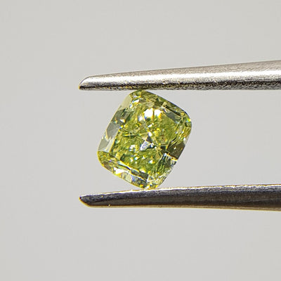 0.31 Carat CUSHION Shape YELLOW Color Diamond - VMK Diamonds