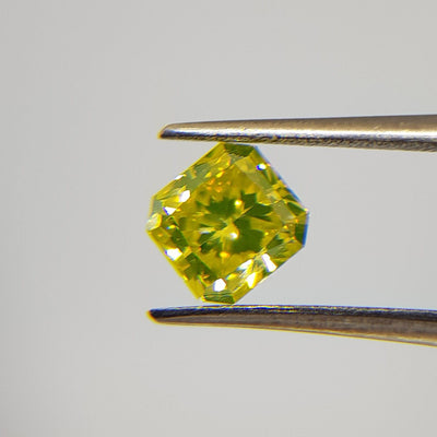 0.89 Carat RADIANT Shape YELLOW Color Diamond