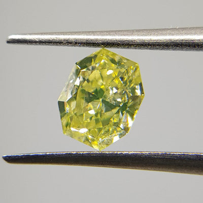 1.01 Carat RADIANT Shape YELLOW Color Diamond