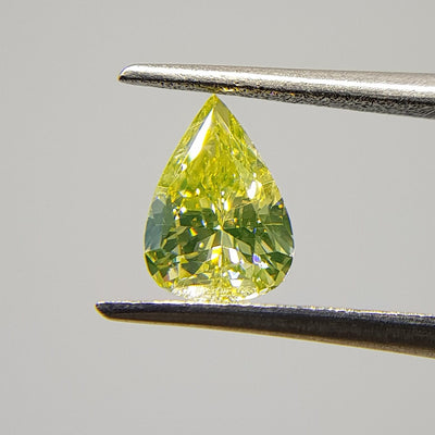 0.57 Carat PEAR Shape YELLOW Color Diamond - VMK Diamonds