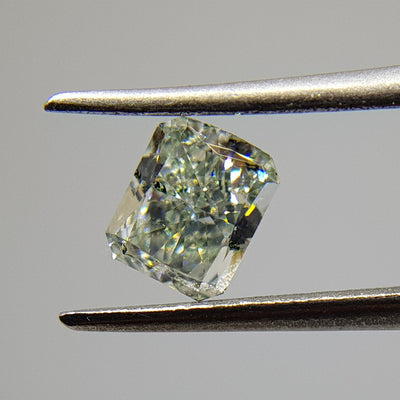 0.58 Carat RADIANT Shape GREEN Color Diamond - VMK Diamonds