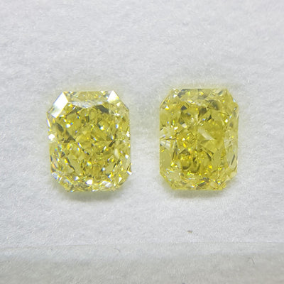 1.51 Carat RADIANT Shape YELLOW Color Diamond - VMK Diamonds
