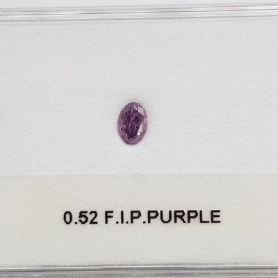 0.52 Carat OVAL Shape PURPLE Color Diamond - VMK Diamonds