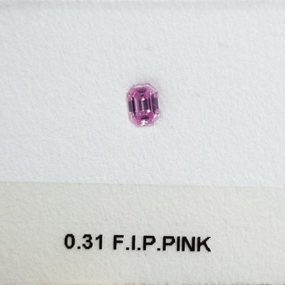 0.31 Carat EMERALD Shape PINK Color Diamond - VMK Diamonds