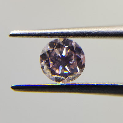 0.40 Carat ROUND Shape PINK Color Diamond - VMK Diamonds