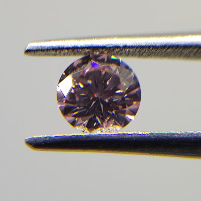 0.23 Carat ROUND Shape PINK Color Diamond - VMK Diamonds