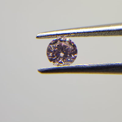 0.17 Carat ROUND Shape PINK Color Diamond
