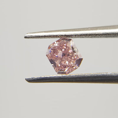 0.35 Carat RADIANT Shape PINK Color Diamond