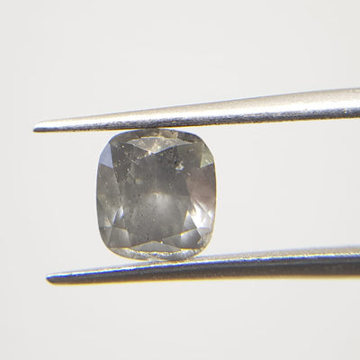 1.30 Carat CUSHION Shape GRAY Color Diamond
