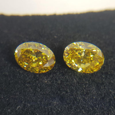 1.16 Carat OVAL Shape YELLOW Color Diamond