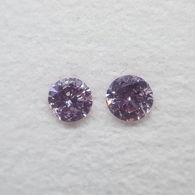 0.17 Carat ROUND Shape PINK Color Diamond - VMK Diamonds