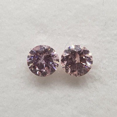 0.27 Carat ROUND Shape PINK Color Diamond