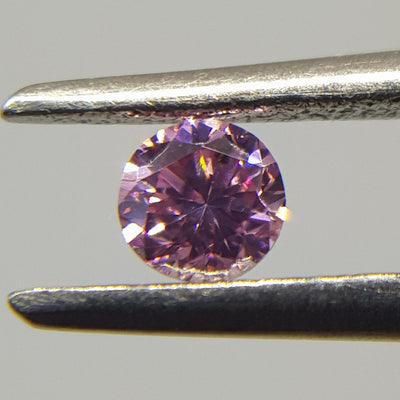 0.09 Carat ROUND Shape PINK Color Diamond