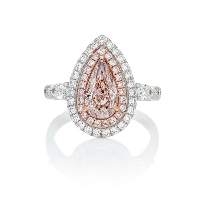 PINK Color Diamond Ring (1.60 Carat)