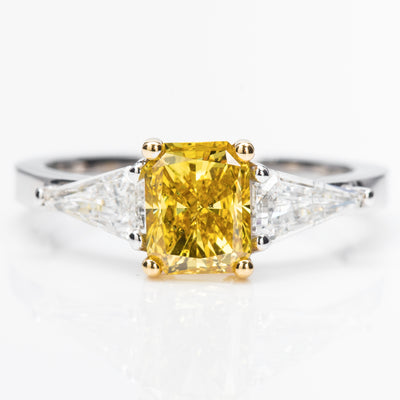 YELLOW Color Diamond Ring (1.45 Carat)