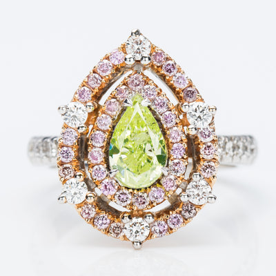YELLOW Color Diamond Ring (2.12 Carat) - VMK Diamonds
