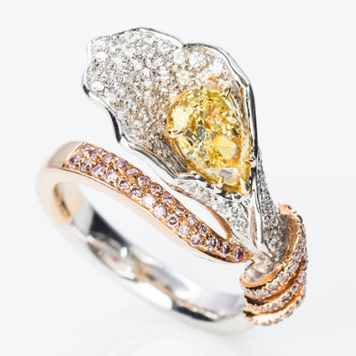 YELLOW Color Diamond Ring (2.23 Carat) - VMK Diamonds