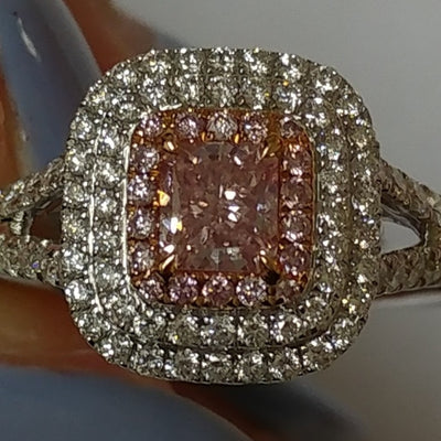 PINK Color Diamond Ring (0.87 Carat) - VMK Diamonds