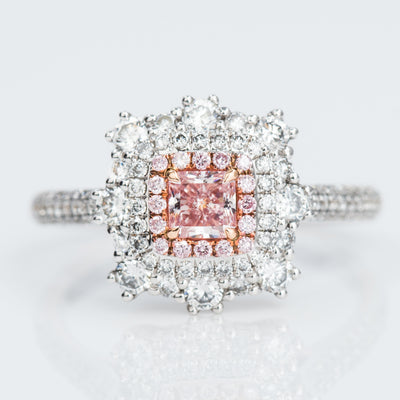 PINK Color Diamond Ring (0.99 Carat) - VMK Diamonds