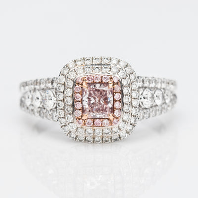 PINK Color Diamond Ring (1.08 Carat)