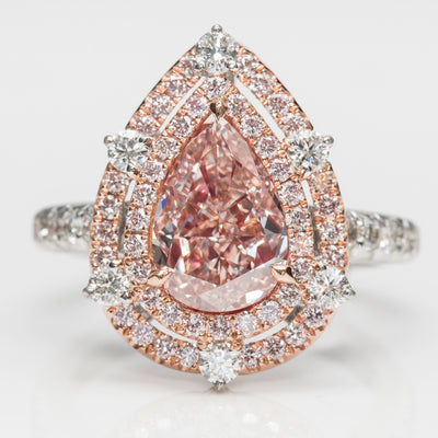 PINK Color Diamond Ring (3.80 Carat) - VMK Diamonds