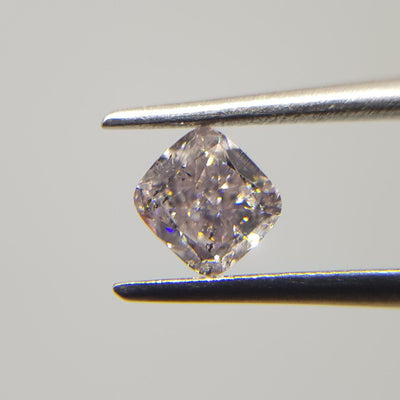 0.37 Carat CUSHION Shape PINK Color Diamond - VMK Diamonds