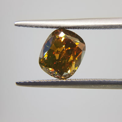 2.22 Carat CUSHION Shape YELLOW Color Diamond