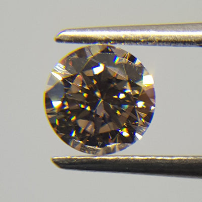 0.54 Carat ROUND Shape BROWN Color Diamond