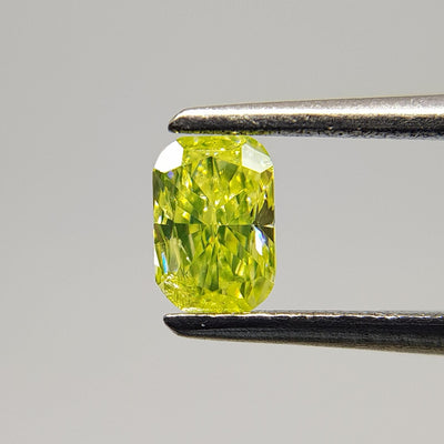 0.25 Carat CUSHION Shape YELLOW Color Diamond - VMK Diamonds