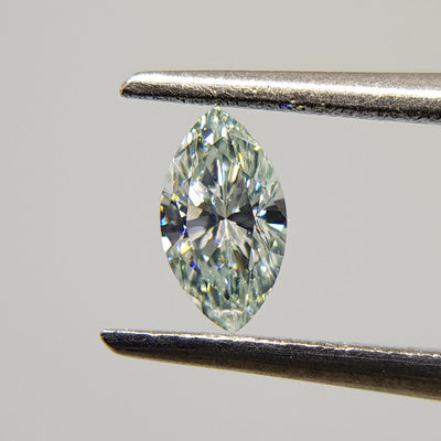 0.18 Carat MARQUISE Shape GREEN Color Diamond - VMK Diamonds