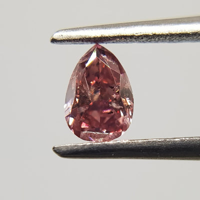 0.19 Carat PEAR Shape PINK Color Diamond - VMK Diamonds
