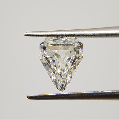 1.04 Carat SHIELD Shape E Color Diamond - VMK Diamonds