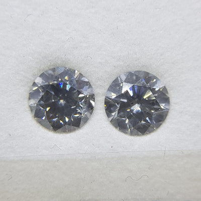1.22 Carat ROUND Shape GRAY Color Diamond