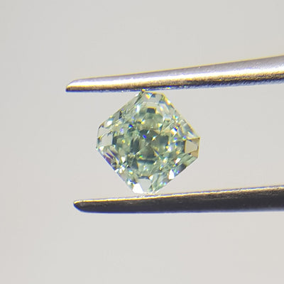 0.51 Carat RADIANT Shape GREEN Color Diamond