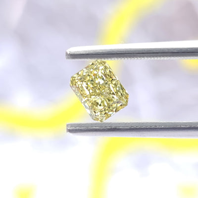 1.13 Carat RADIANT Shape YELLOW Color Diamond