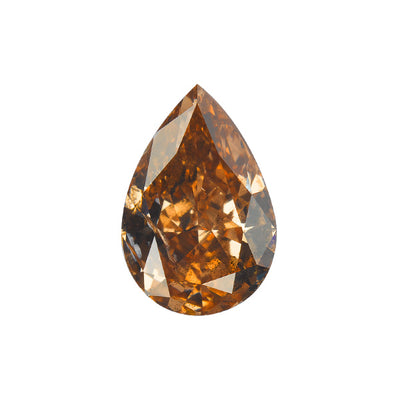 2.03 Carat PEAR Shape BROWN Color Diamond - VMK Diamonds
