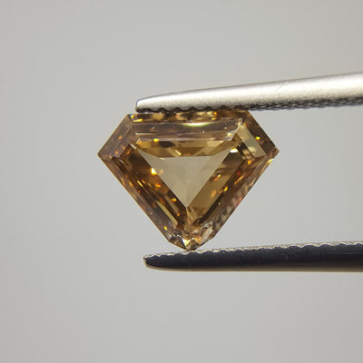 2.02 Carat SHIELD Shape BROWN Color Diamond - VMK Diamonds
