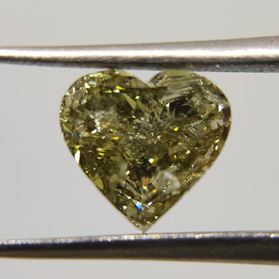 1.01 Carat HEART Shape GREEN CHAMELEON Color Diamond - VMK Diamonds