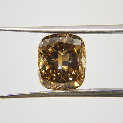 5.89 Carat CUSHION Shape BROWN Color Diamond