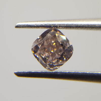 0.46 Carat CUSHION Shape BROWN Color Diamond - VMK Diamonds
