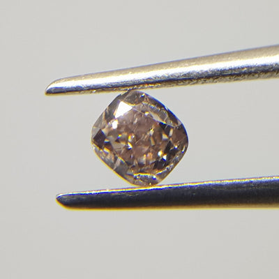 0.24 Carat CUSHION Shape BROWN Color Diamond - VMK Diamonds