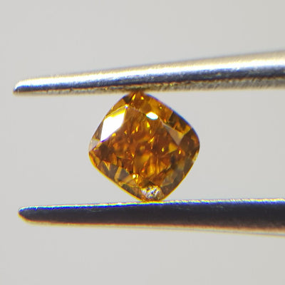 0.31 Carat CUSHION Shape ORANGE Color Diamond - VMK Diamonds