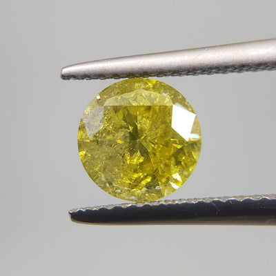 1.52 Carat ROUND Shape YELLOW Color Diamond - VMK Diamonds