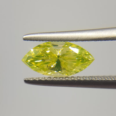 1.33 Carat MARQUISE Shape YELLOW Color Diamond - VMK Diamonds