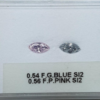 0.54 Carat MARQUISE Shape BLUE Color Diamond - VMK Diamonds