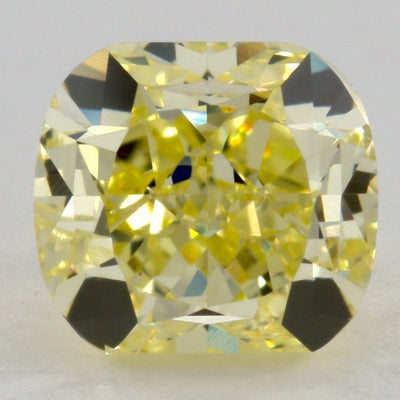 0.98 Carat CUSHION Shape YELLOW Color Diamond - VMK Diamonds