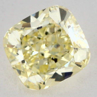 0.82 Carat CUSHION Shape YELLOW Color Diamond - VMK Diamonds
