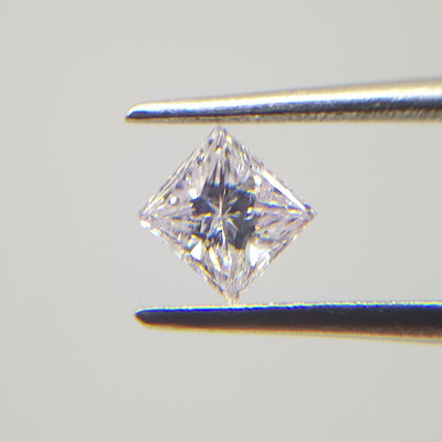 0.37 Carat PRINCESS Shape PINK Color Diamond