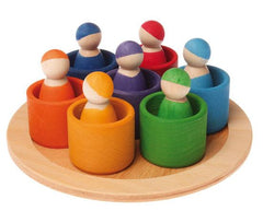 Grimm's 7 friends in bowls little toy tribe