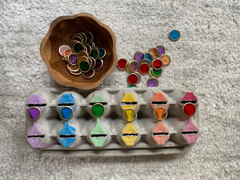 colour sorting fine motor invitation to play